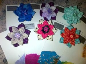 fabric flower hair accessory